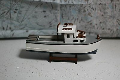small Wood BOAT fisherman lobster model nautical table decoration stand buy1orMo