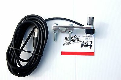 Flat Bar Mirror Mount Kit with cable for our 3/8 springer CB Antenna aerial
