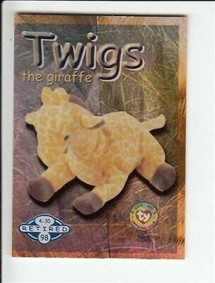1999 Ty Beanie Babies Series 2 Retired Card Twigs Blue #288