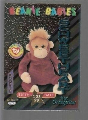 TY beanie Babies Series 3 Birthday Card Schweetheart Teal #42