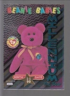 TY beanie Babies Series 3 Birthday Card Millennium Teal #37
