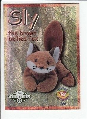 1999 Ty Beanie Babies Series 2 Retired Card Sly Green #286