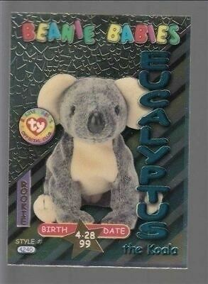 TY beanie Babies Series 3 Birthday Card Eucalypyus Teal #40