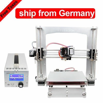 DE Warehouse full Aluminum frame Prusa I3 3d Drucker with 3 in 1 box GT2560 LCD