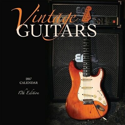 Vintage Guitars 2017 Wall Calendar NEW by Browntrout