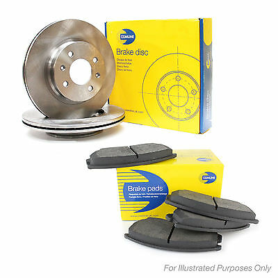 Comline Front Brake Discs & Pad Set Genuine OE Quality Replacement