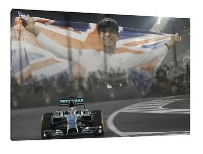Lewis Hamilton 30x20 Inch Canvas Abu Dhabi Mercedes Framed Picture Poster F1