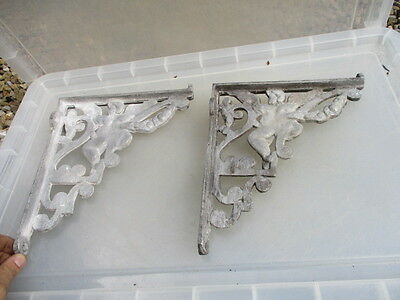 Aluminium Shelve Brackets Cistern Holder Antique Cherub Style Shelf Shelving Old