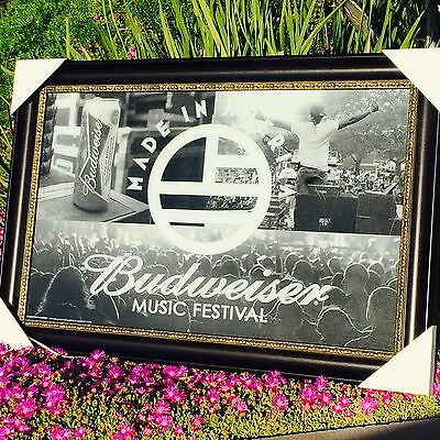 """Budweiser Made In America Music Festival Beer Bar Man Cave Mirror  """"New"""""""