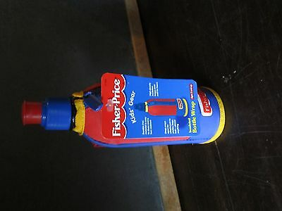 New 1999 Fisher Price Kids Gear - Insulated Bottle Wrap Bottle handle camp drink