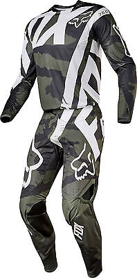Fox Racing Mens Camo/Green/White/Black 360 Creo Dirt Bike Jersey Pants Kit Combo
