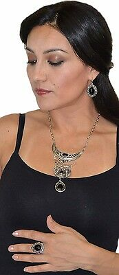 Moroccan Berber Tribal Arabic Set Of Necklace Ring And Earring  African