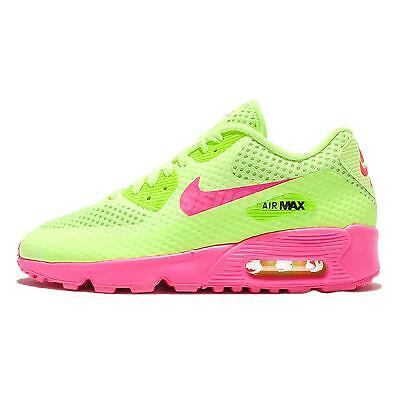 Nike Air Max 90 BR GS Breeze Green Pink Girls Kids Running Shoes 833409-300