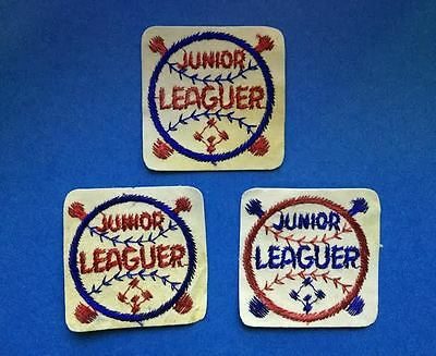 Vintage 1960's 3 Lot Junior / Minor Leaguer League Youth Baseball Patches Crests