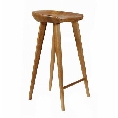 """New! Carved Wood Barstool -29"""" Contemporary Bar/counter Tractor Stool-Set Of 4 W"""