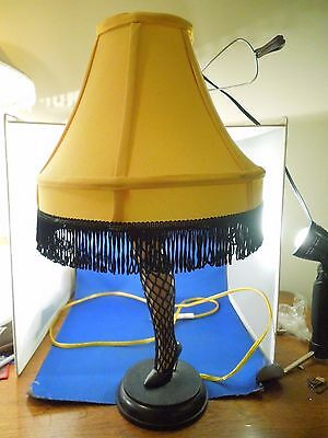 A Christmas Story Electric Leg Lamp Smaller 20 Inch Table Lamp with Shade