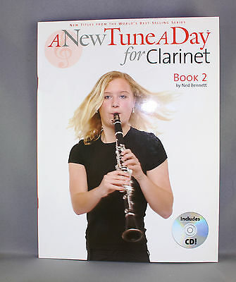 A New Tune A Day For Clarinet by Ned Bennett - Book Two - Brand New + CD