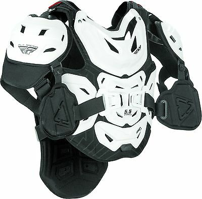 Fly Racing 5.5 pro Leatt chest protector white
