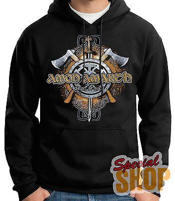 SWEATSHIRT WITH hoodamon AMARTH-PURSUIT OF VIKINGS-deathhoodie,SHIPPING 24/72 h