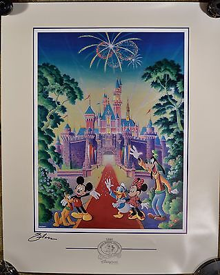 """2001 Disneyana Convention """"Family Reunion"""" Signed Poster by Randy Sauders, w/COA"""