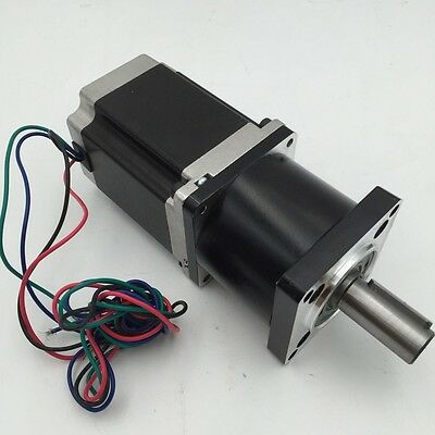 Nema23 Planetary Geared L76MM Stepper Motor Gearbox Ratio 5:1 9Nm CNC Reducer