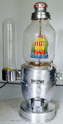 Antique Hot Nuts 5 Cent Cebco Peanut Vending Machine With Glass Cup Dispenser