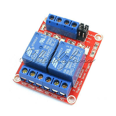 DC 24V 2-Channel Optically Isolated Control Relay PCB Board Module