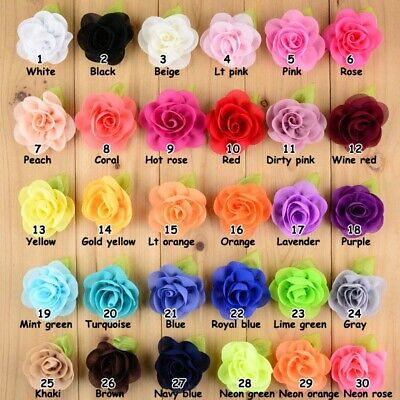 DIY 3/20/50PCS Lot Baby Girls Flower Headband Corsage Ribbon Bow No Clip