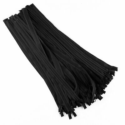 50Pcs Black/white  Nylon Invisible Zipper Sewing 16-18 inch  Home Textiles