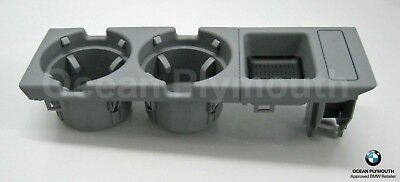 Genuine BMW Cup Holder & Oddments Tray - 3 Series E46 - Grey