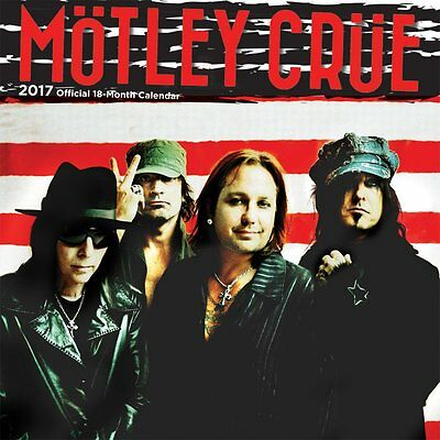 Motley Crue 2017 Wall Calendar NEW by Browntrout
