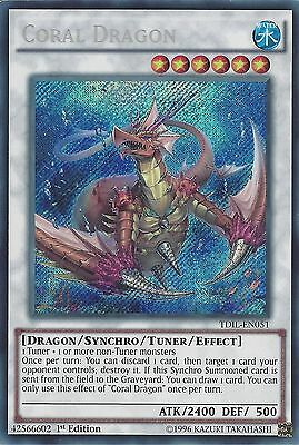 Yu-Gi-Oh Card: Coral Dragon - Secret Rare - Tdil-En051 1St Edition
