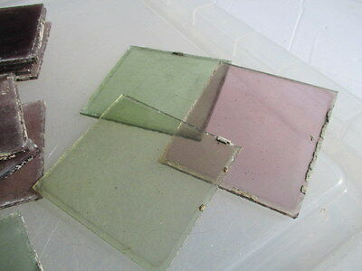 Antique Stained Glass Panel Section Architectural Salvage 9cm Old £2.50each