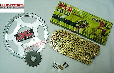 Honda CBF600 (2004 to 2007) DID Gold X-Ring Chain & JT Sprockets Kit Set