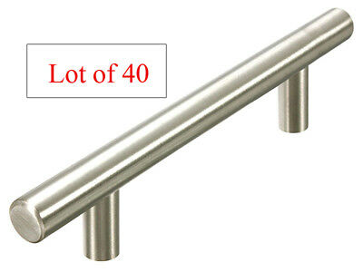 "40 New Stainless Steel Bar pull pulls 3 3/4"" 96MM Brushed nickel free shipping"