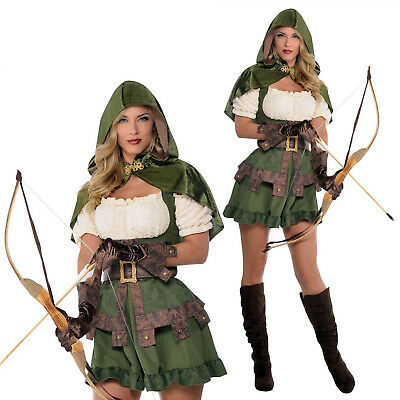 Christys Dress Up Ladies Robin Hodie Full Outfit New Womens Fancy Dress Costume