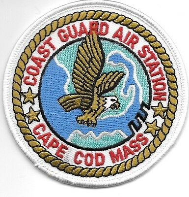 "USCG Coast Guard Patch - Air Station  Cape Cod, MA (3.5"" round size) (fire)"