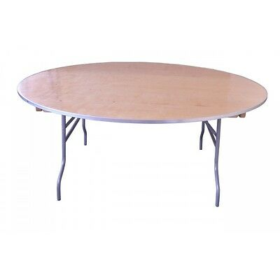 "72"" Round Wood Folding Tables, Banquet, School, Church, Hotel and Catering Table"