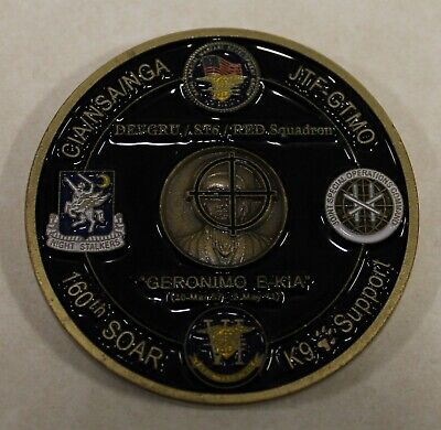 Operation NEPTUNE SPEAR 160th SOAR SEAL Team 6 Navy Commemorative Challenge Coin
