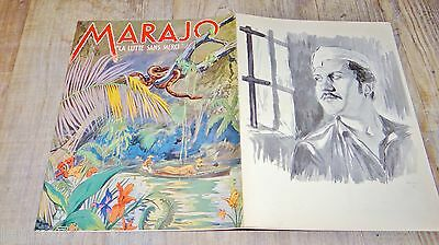MARAJO ! scenario dossier presse cinema film f/ allemand jungle 1939