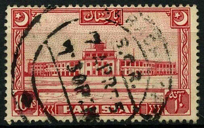 Pakistan 1949-53 SG#50, 10a Scarlet Used #D30861