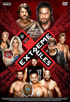 Extreme Rules 2016 Glossy Wrestling Poster WWF WCW Dean Ambrose Roman Reigns
