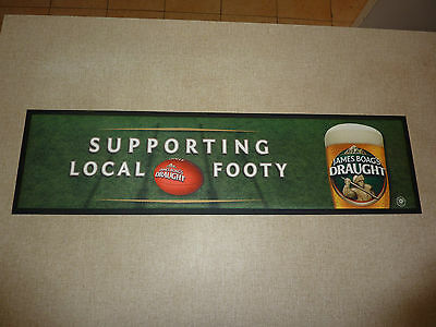 Boags Draught Bar Mat 'Supporting Local Footy' James Boag's Coaster Runner Top