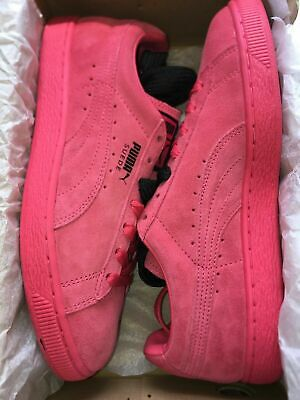 best service 69e03 b3c14 NEW PUMA SUEDE Classic + Men's Shoes Teaberry Red Black Mono 356568-69