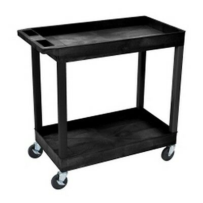 Luxor E Series Two Shelf Utility Cart LUXEC11 Brand New!