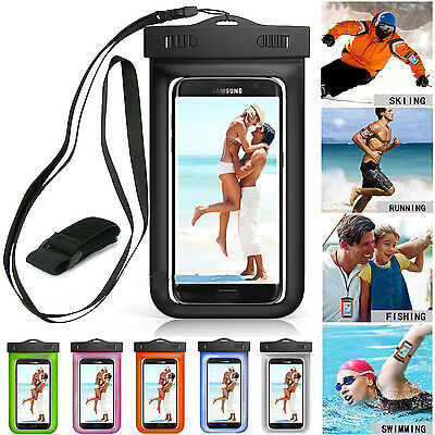 Underwater Luminous Pouch Waterproof Dry Bag Case Cover For Smart Phone Universa