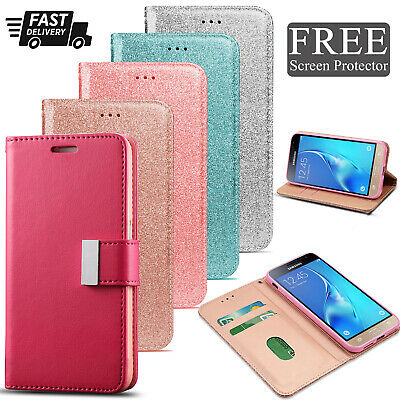 For Samsung Galaxy J3 (2016) Wallet Leather Case Flip Stand New Phone Cover