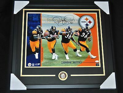 Jerome Bettis Signed Framed 16x20 Photo JSA
