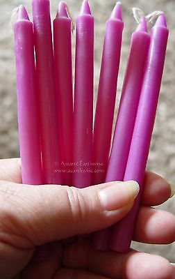 7 x VIOLET - SPELL WORK  - WISHING CANDLES 14cm Wicca  Witch Pagan Goth Ritual