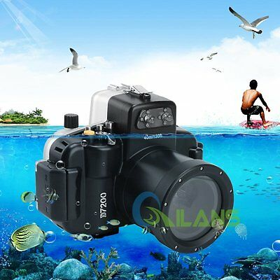 AU Ship 40m130ft Waterproof Underwater Housing Case Cover for Nikon D7200 Camera